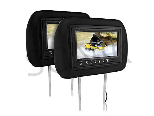 7-Inch TFT-LCD Adjustable Headrest Monitors